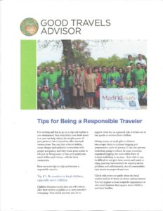 Tips for Being a Responsible Traveler