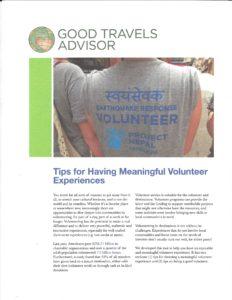 Explore Meaningful Volunteer Experiences